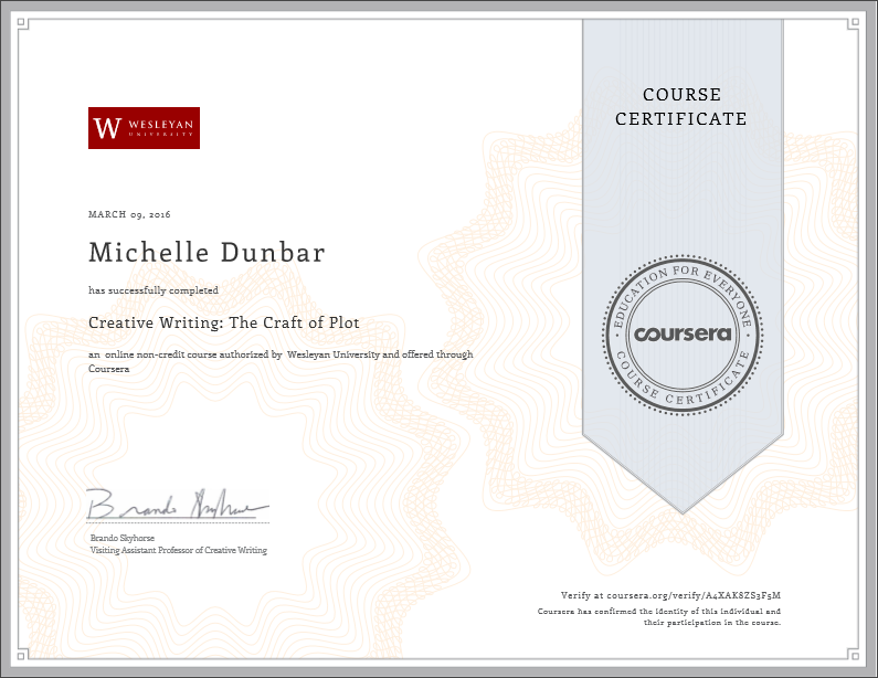 The Craft of Plot (Coursera)